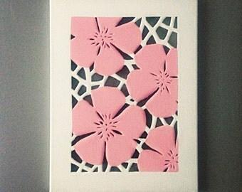 Canvas cut flowers with a splash of colour!
