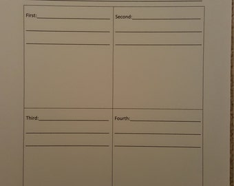 How-To Sequence Worksheet