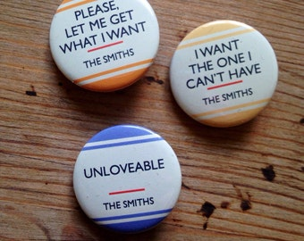 The Smiths 'Love You' (Set 1) -  THE SMITHS 3 Badge Set