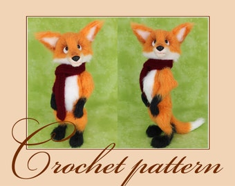Antuan - the little fox - Amigurumi Crochet Pattern PDF file by Anna Sadovskaya