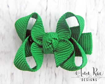 Emerald Green Baby Bow, Girls Hair Bow, Baby Girl Hair Bow, Baby Hair Clip, Green Hair Bow, Hair Bow For Babies, Hair Bow For Girls Baby Bow