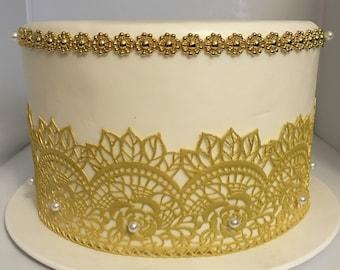 2x  - Edible Lace - Sugar Lace - Cake Lace -   (FREE SHIPPING)