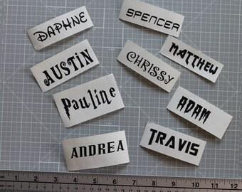 Name Decal, Personalised Name Vinyl Decal, Custom Vinyl Decal, Label, Vinyl Name Decal, Outdoor Vinyl Decal, Decal, Monogram Decal, Decal