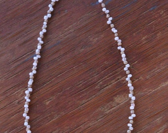 Handmade Pink Peach Beaded Necklace