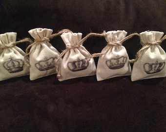 French Lavender and Linen Sachets - Crowns