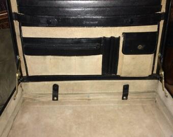 Samsonite Black Leather Attache/Briefcase w/ dual lock combo/ Vintage Samsonite Briefcase