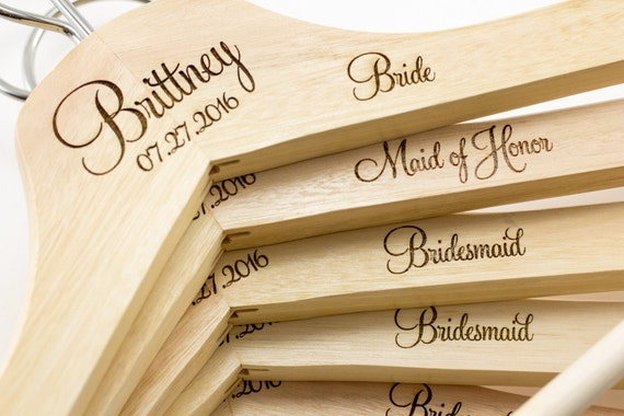 Personalized wedding dress hangers bridal by for Personalized wedding dress hangers