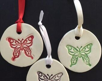 Ceramic Butterfly Ornament, Butterfly Ornament, Butterfly