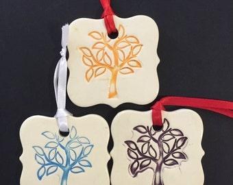 Ceramic Tree Ornament, Leafy Tree, Tree Ornament