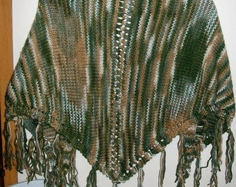 Knit Shawl, Hand Made