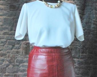 MCCO Vintage Skirt,  100% Leather, UK 6