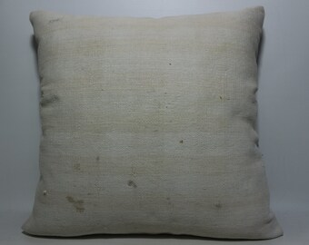 24x24 Simple Colour Pillow White pillow hand woven kilim pillow turkish kilim pillow home decor boho pillow sofa pillow SP6060-527