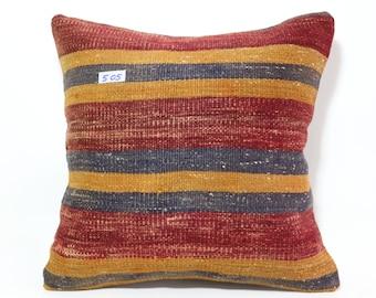 turkish kilim pillow 20x20 kilim pillowcase,turkish kilim cushion cover 20x20 striped kelim pillow cover 50x50 cm SP5050-505