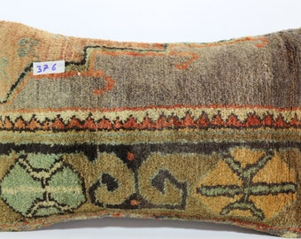 bohemian carpet pillow cover 12x20 hand woven carpet cover throw pillow turkish carpet pillow ethnic pillow home decor cover SP3050-376