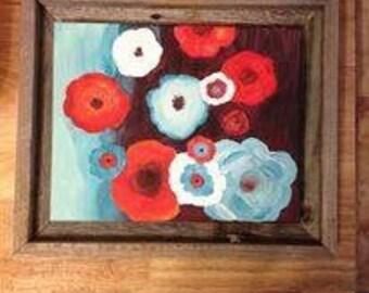 Framed Floral Painting