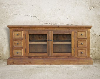 Media Console, Console Table, Reclaimed Wood, TV Stand, Entertainment Console, Handmade