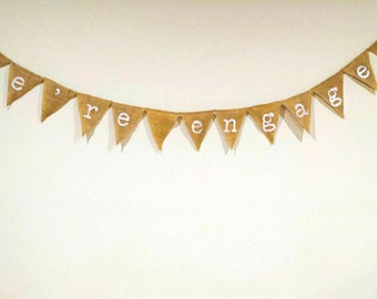 We're Engaged Bunting