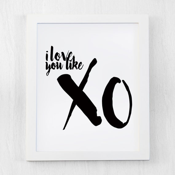 Beyonce quote, Inspirational Quote, I love you like xo , Modern Art ...