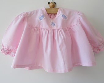 FRENCH BABY GUIMPE- Handmade and hand embroidered baby girl body guimpe from 1970