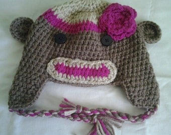 crochet hat sockmonkey