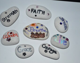 Inspirational carribean beach stones made to order.