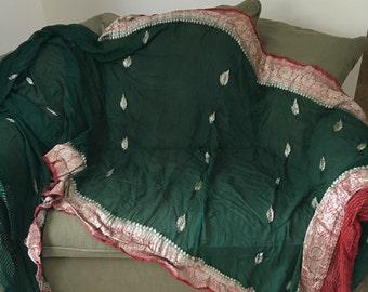 Beautiful Emerald Green Indian Sari
