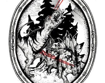 Dinosaurs. Art Print.