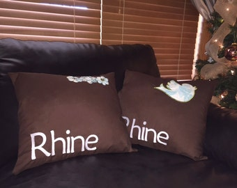 Personalized Embroidered Decorative Pillows