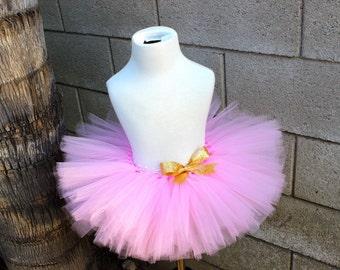 Pink Glitter Tutu, Pink and Gold Tutu, Pink Poof Tutu, Gold Glitter Tutu, Pink Tutu, First Birthday Tutu, Smash Cake Tutu, Pink Baby Tutu