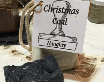 Christmas Coal Soap