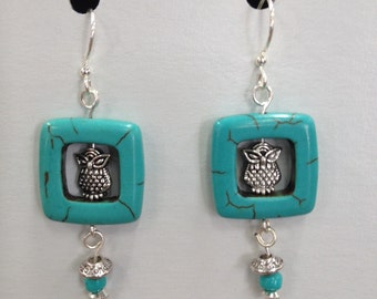 From the Lookout Owl Dangle Earrings