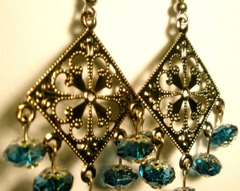 Cathedral Earrings-Turquoise