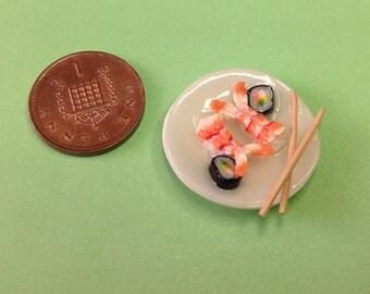 Sushi - dollshouse, polymer clay, miniature food