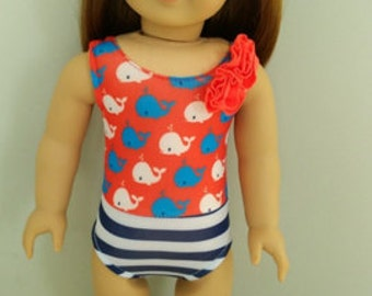 Doll Cloth, Swimsuit Doll, 18 inches Doll Cloth, Handmade Doll Swimsuit, Girl Gift, Little Girl Gift.