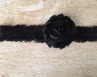 Black baby headband