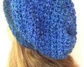Blue Slouchy Beanie