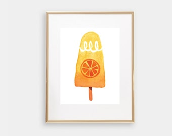 "BOGO SALE ""Starburst Popsicle""  Wall Art Print, Office Decor, Gold Foil, Printable Art, Nursery Art Set, Gallery Wall Art, Blue, Pink"