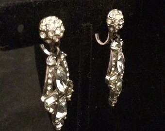 Vintage Costume Jewelry Earrings from the the 1930's