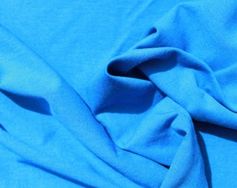 TUBE Combed Cotton Plush Blue Self-coloured