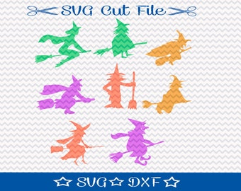 Witch SVG File, SVG for Silhouette, Halloween SVG
