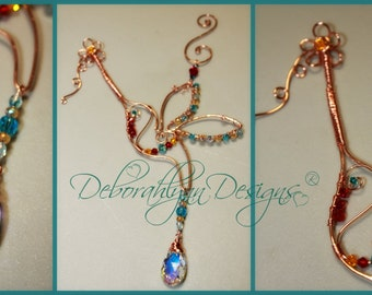 Hummingbird Suncatcher - Custom Colours, Hummingbird Ornament, Wire Bird, Bird Sunjewel, Crystal Prism, Hummingbird