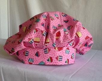 The cupcake celebration scrub hat