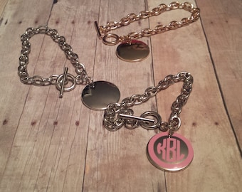 Disc Bracelets silver and gold