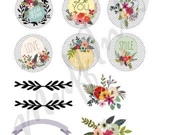 Sticker Set -Flowers -