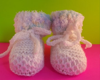Cute  White Baby booties