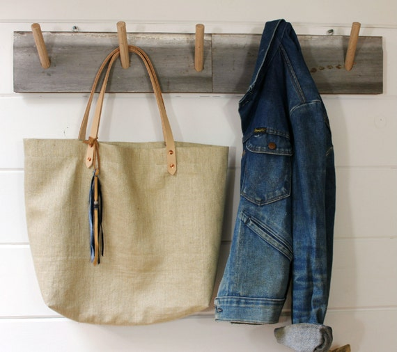 European Linen Grain Sack Tote