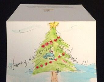 Annapolis Xmas Tree Card