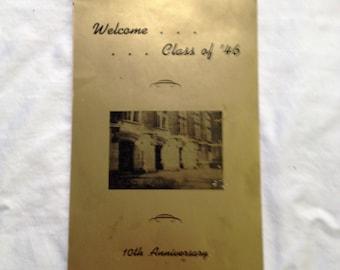 1946 Ephemera, Class Reunion Ephemera, Ohio Ephemera, Vintage Paper,