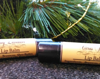 Lip Balm - Honey Lavender, Peppermint or Citrus Fresh