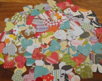 Punched and Die Cut Hearts made from Quality Patterned Scrapbooking Paper